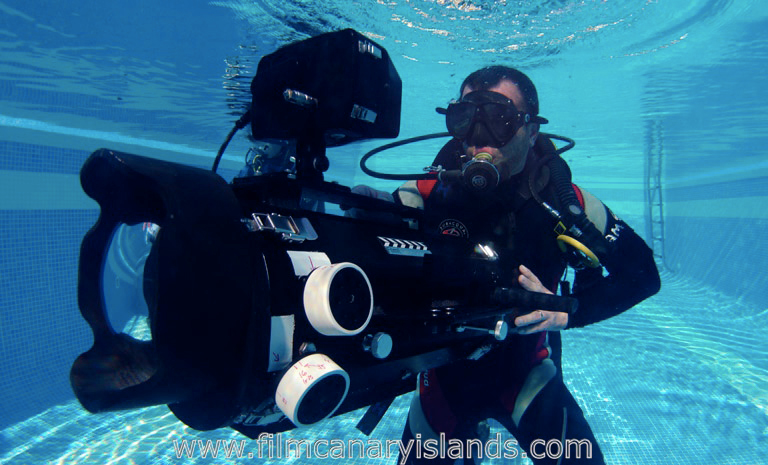 Underwater filming, Film Canary Islands